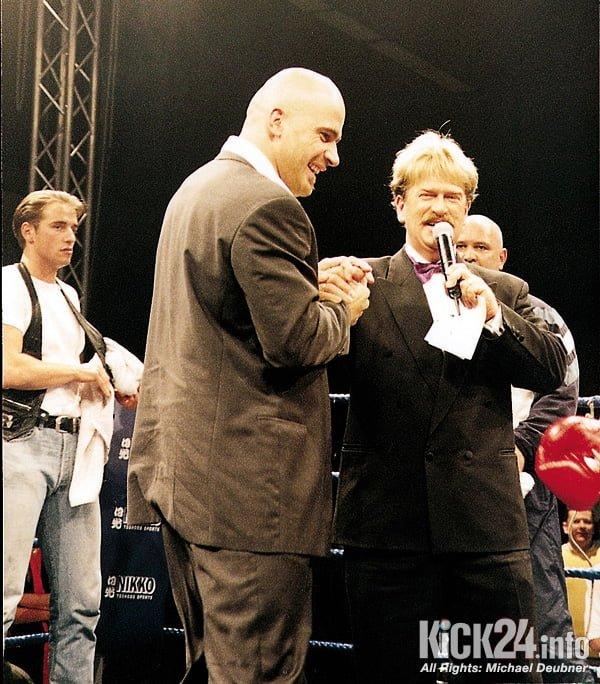 Bas Rutten mit Wuestenberg von Eurosport