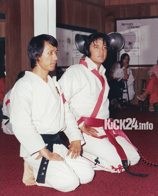 Khang Rhee und Elvis Presley
