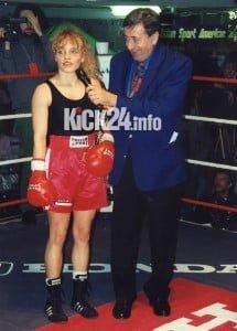 Richard Lugner und Regina Halmich Boxen