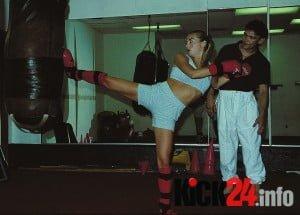 Denise Buick beim Kicking