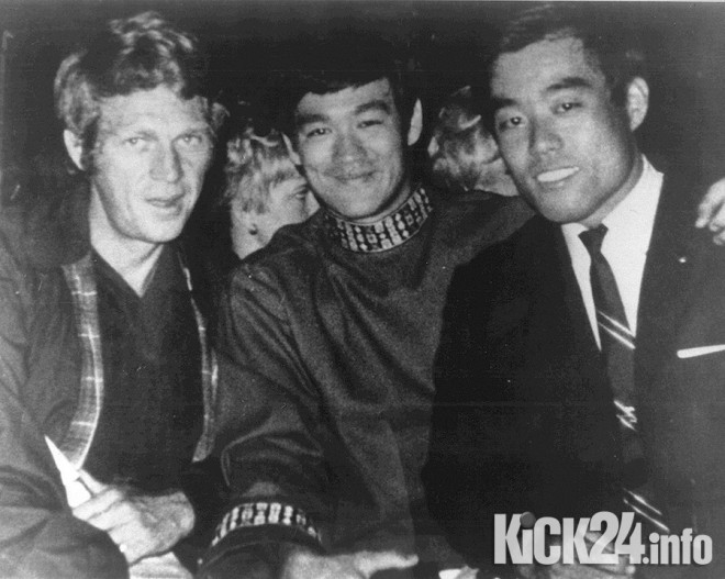 Bruce Lee with Paul Newman